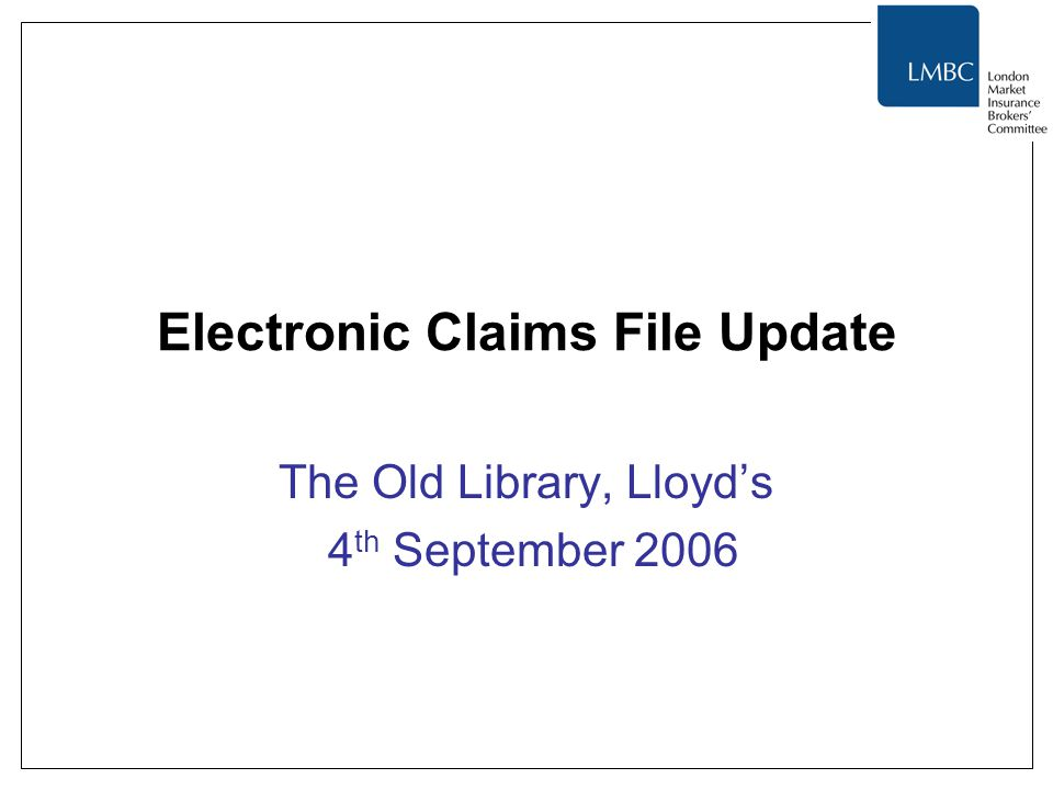 Electronic Claims File Update