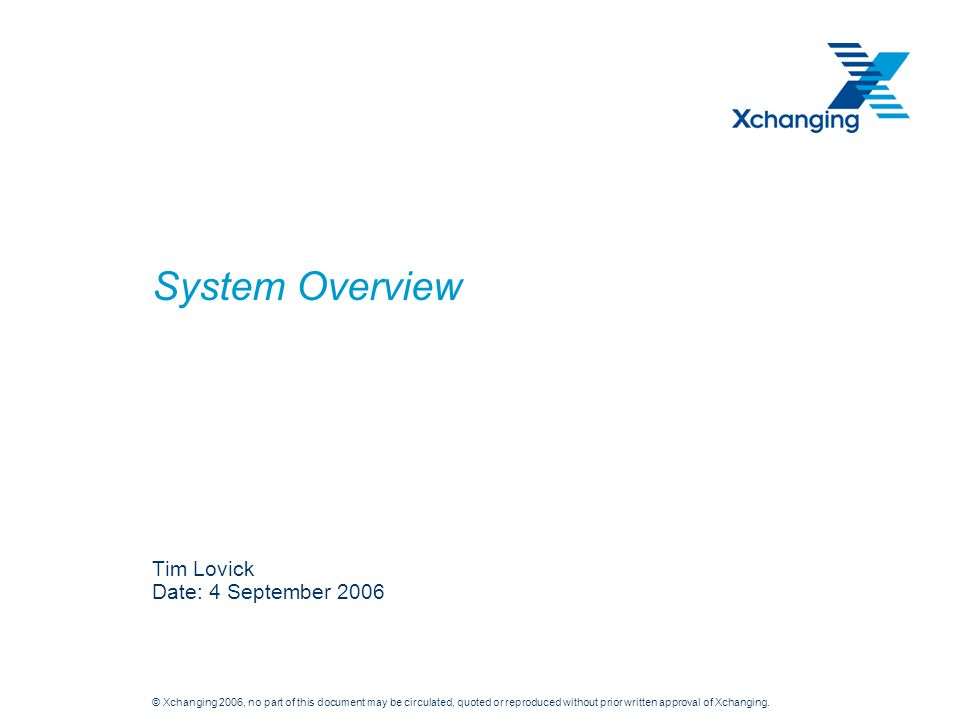 Tim Lovick Date: 4 September 2006