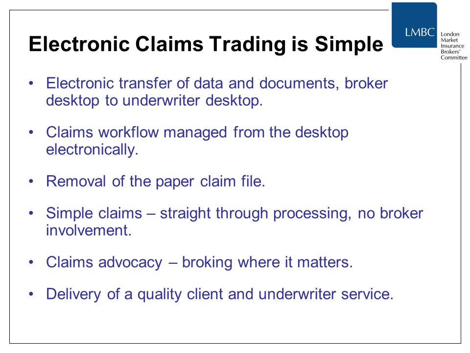 Electronic Claims Trading is Simple