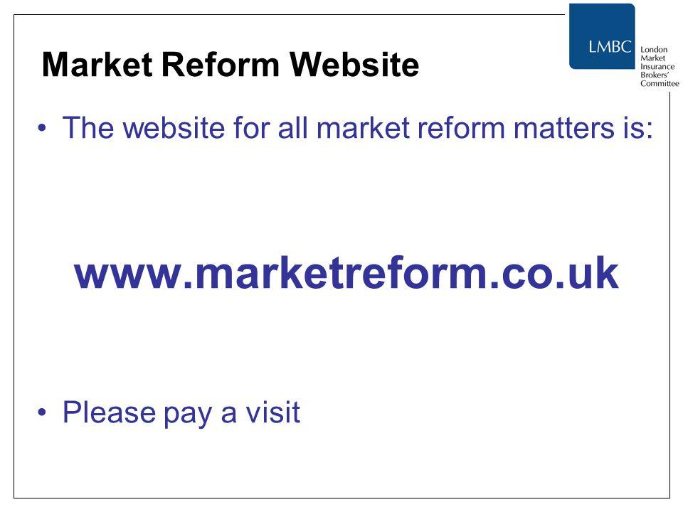 www.marketreform.co.uk Market Reform Website