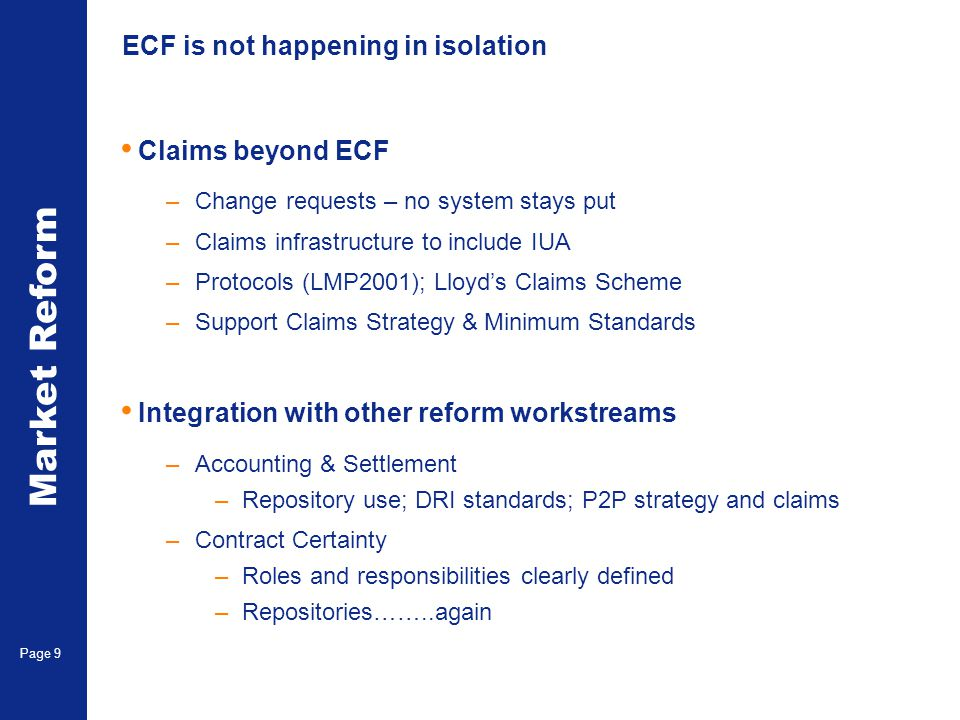 ECF is not happening in isolation