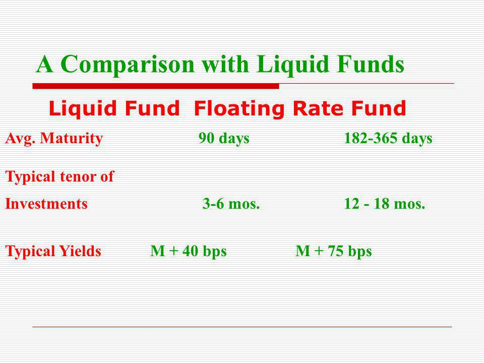 A Comparison with Liquid Funds