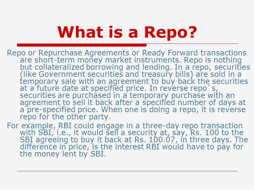 What is a Repo