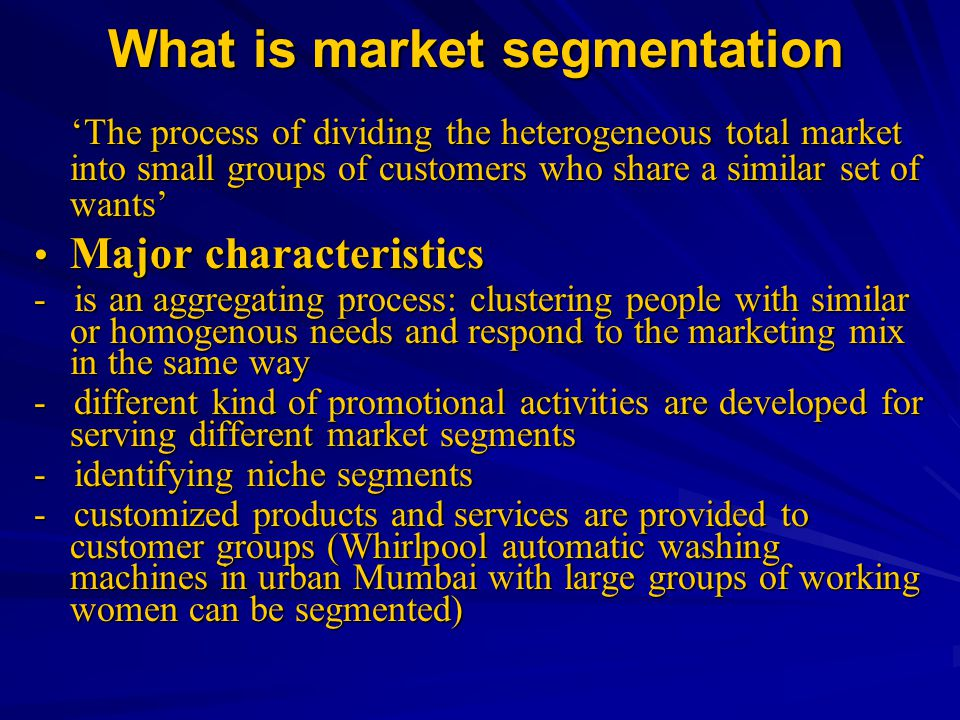 What is market segmentation