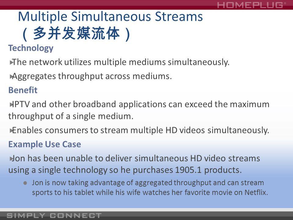Multiple Simultaneous Streams (多并发媒流体)