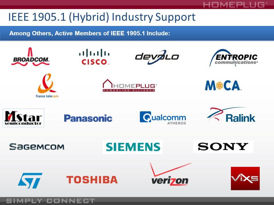 IEEE 1905.1 (Hybrid) Industry Support