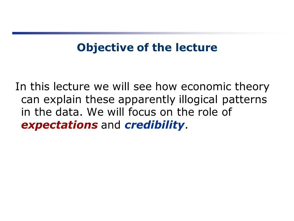 Objective of the lecture