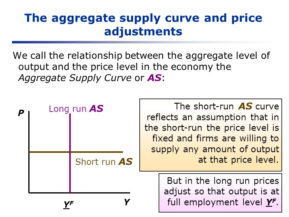 The aggregate supply curve and price adjustments