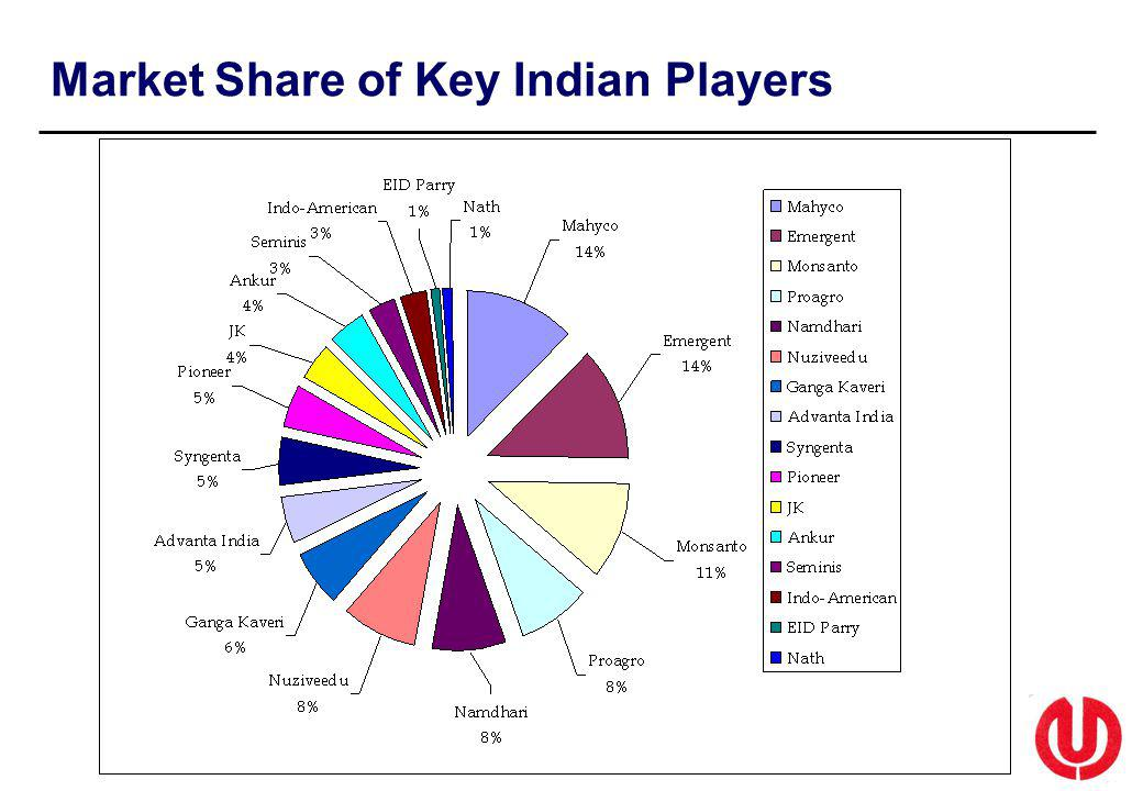 Market Share of Key Indian Players