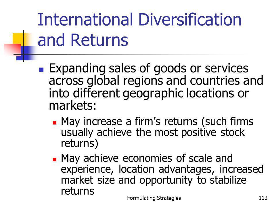 International Diversification and Returns