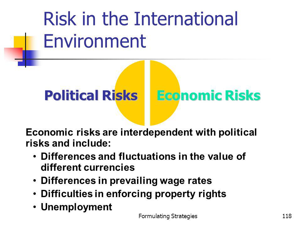 Risk in the International Environment
