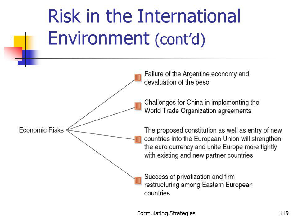 Risk in the International Environment (cont'd)