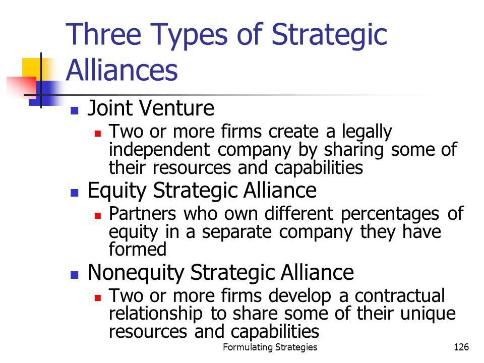 Three Types of Strategic Alliances