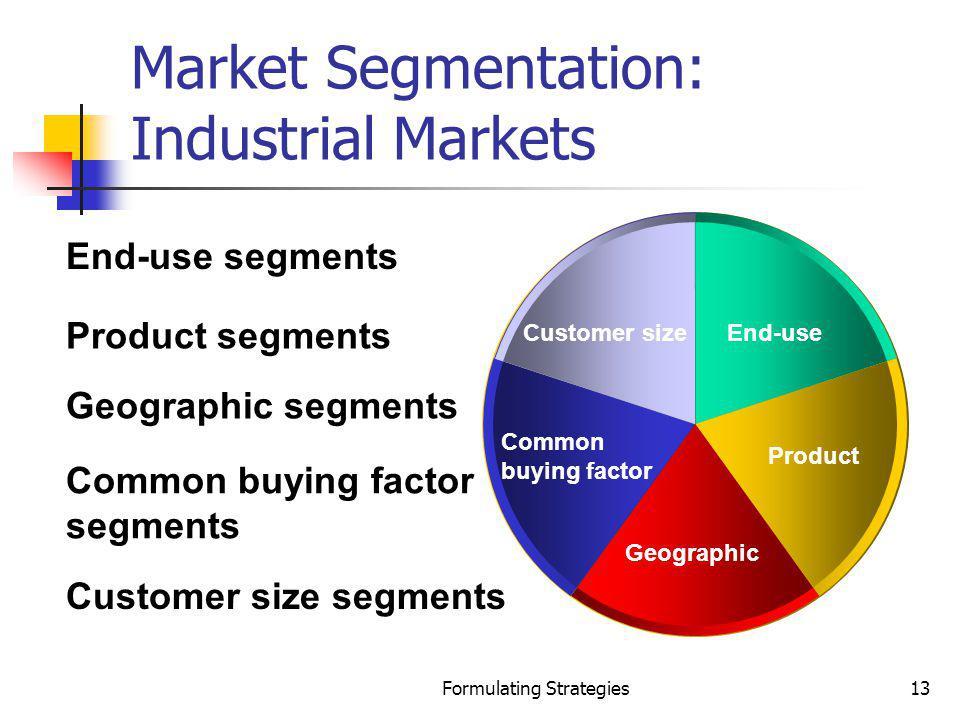 Market Segmentation: Industrial Markets