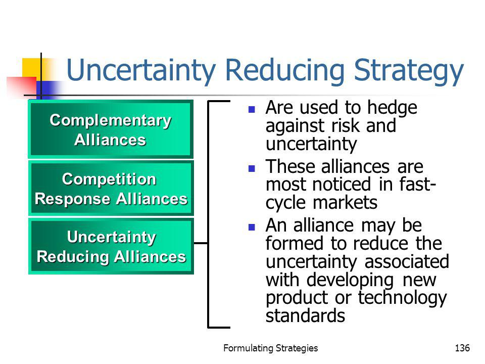 Uncertainty Reducing Strategy