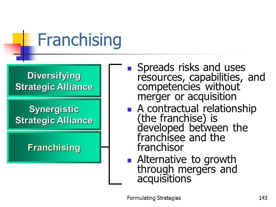 Diversifying Strategic Alliance Synergistic Strategic Alliance