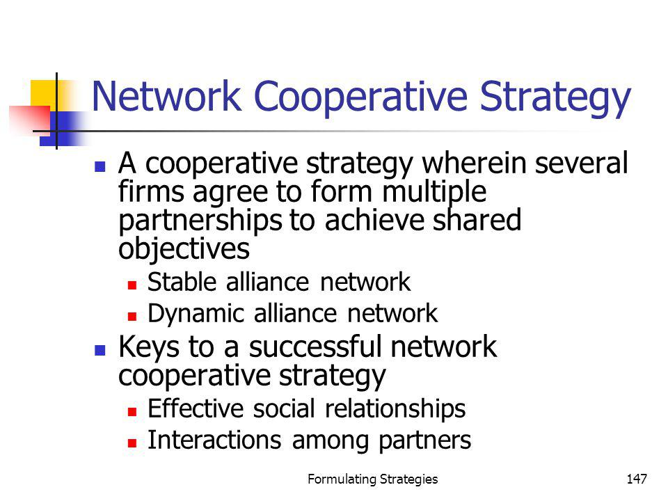 Network Cooperative Strategy