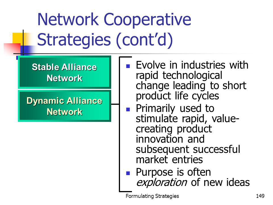 Network Cooperative Strategies (cont'd)