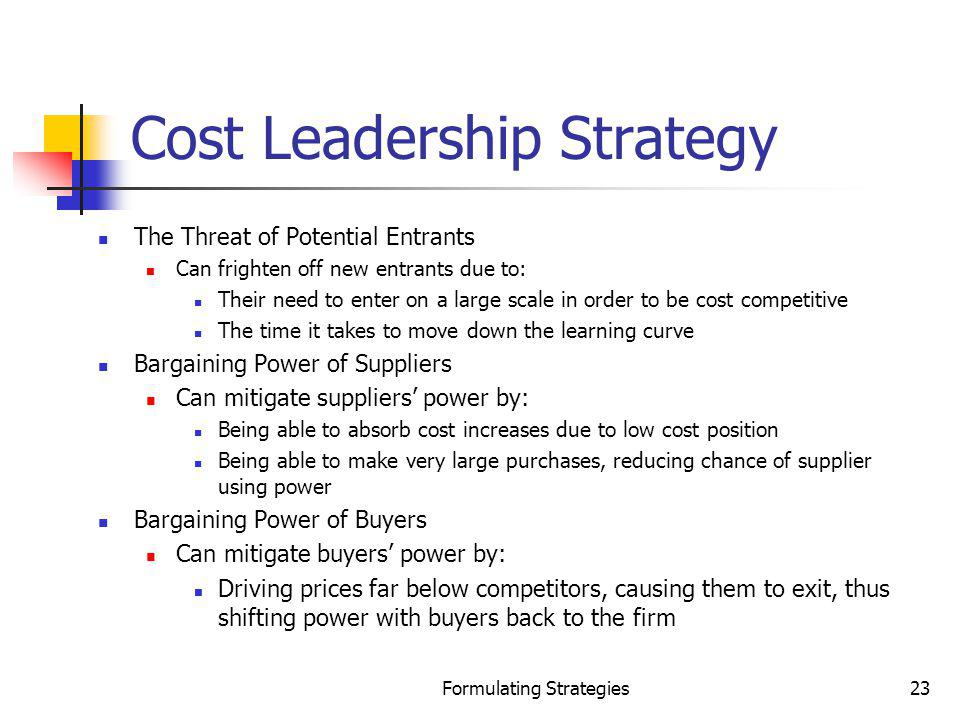 Cost Leadership Strategy