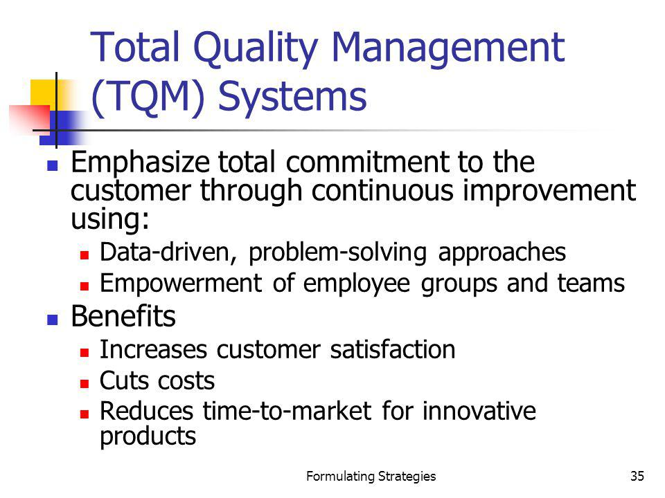 Total Quality Management (TQM) Systems