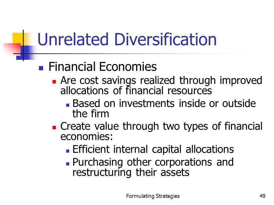 Unrelated Diversification