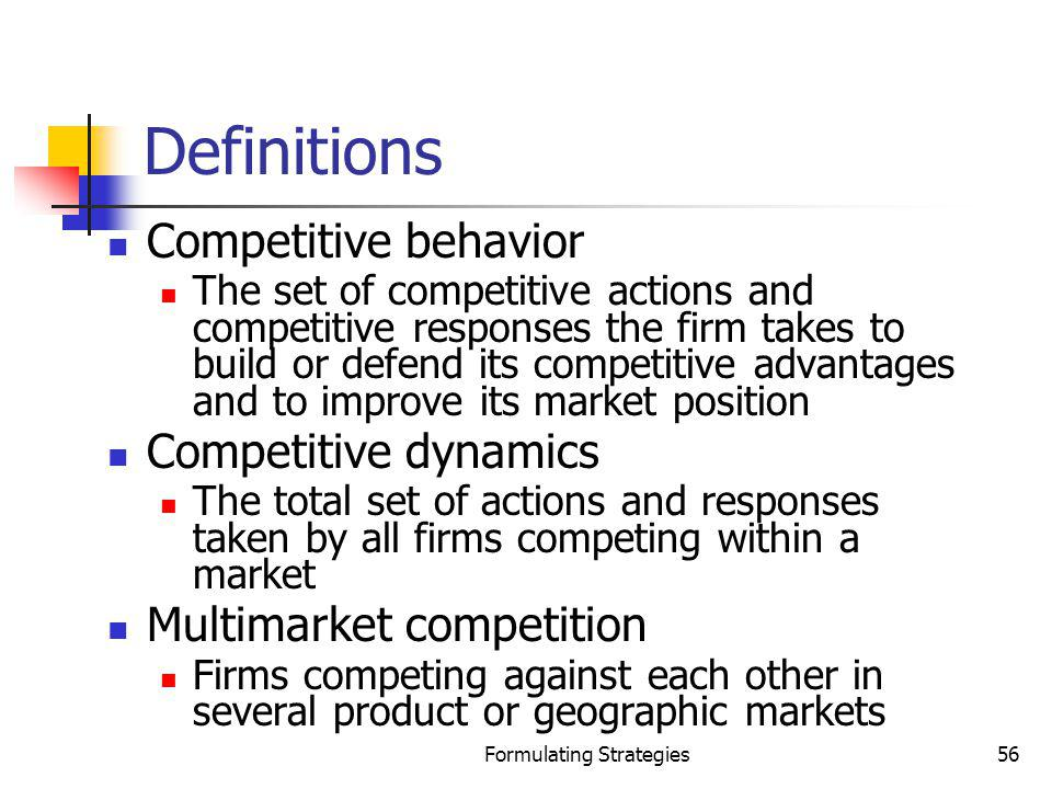 Formulating Strategies