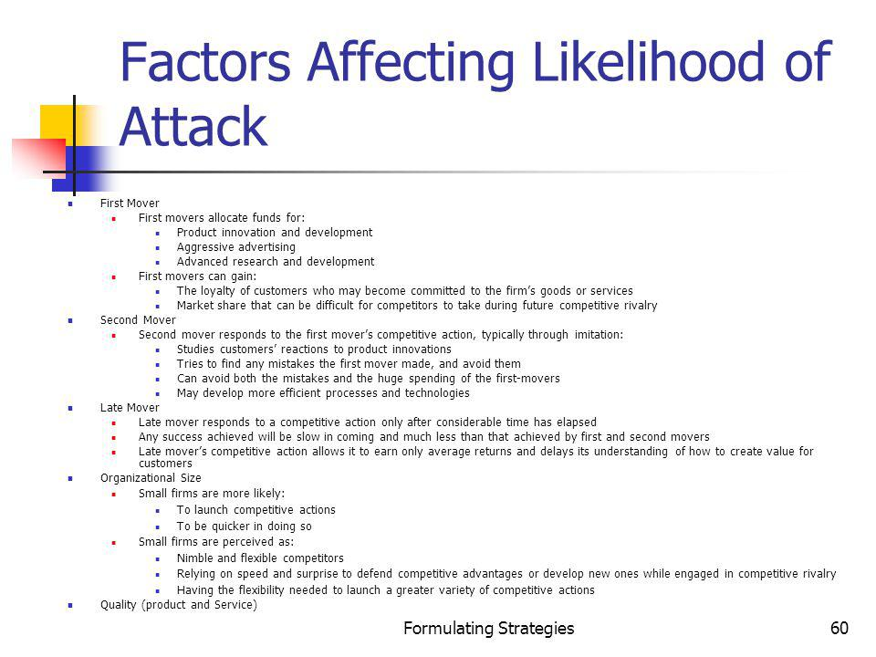 Factors Affecting Likelihood of Attack