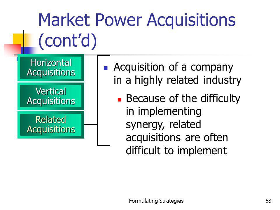Market Power Acquisitions (cont'd)