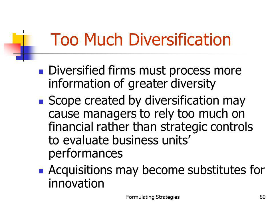 Too Much Diversification