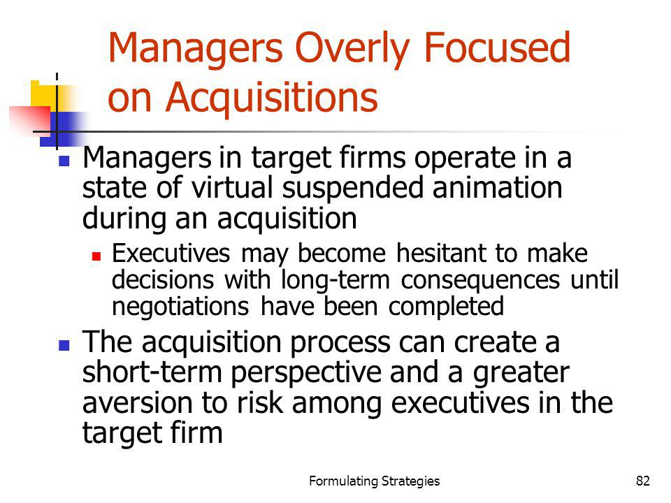 Managers Overly Focused on Acquisitions