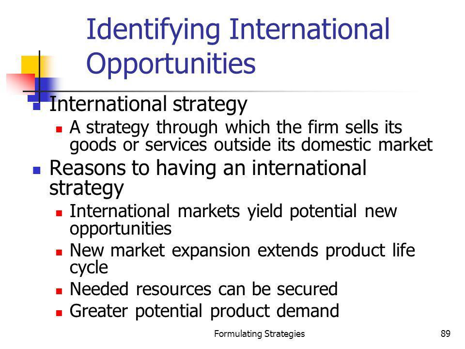 Identifying International Opportunities