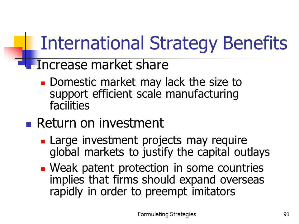 International Strategy Benefits