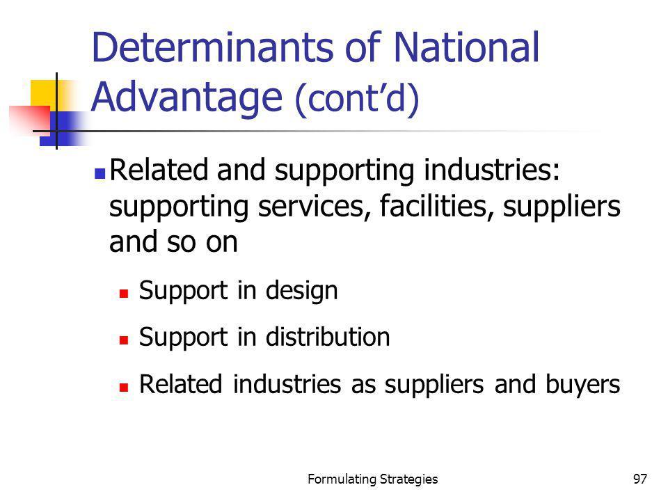 Determinants of National Advantage (cont'd)