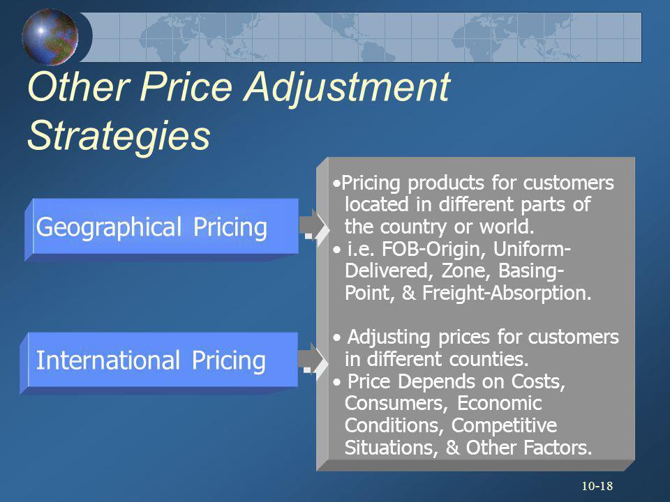 Other Price Adjustment Strategies