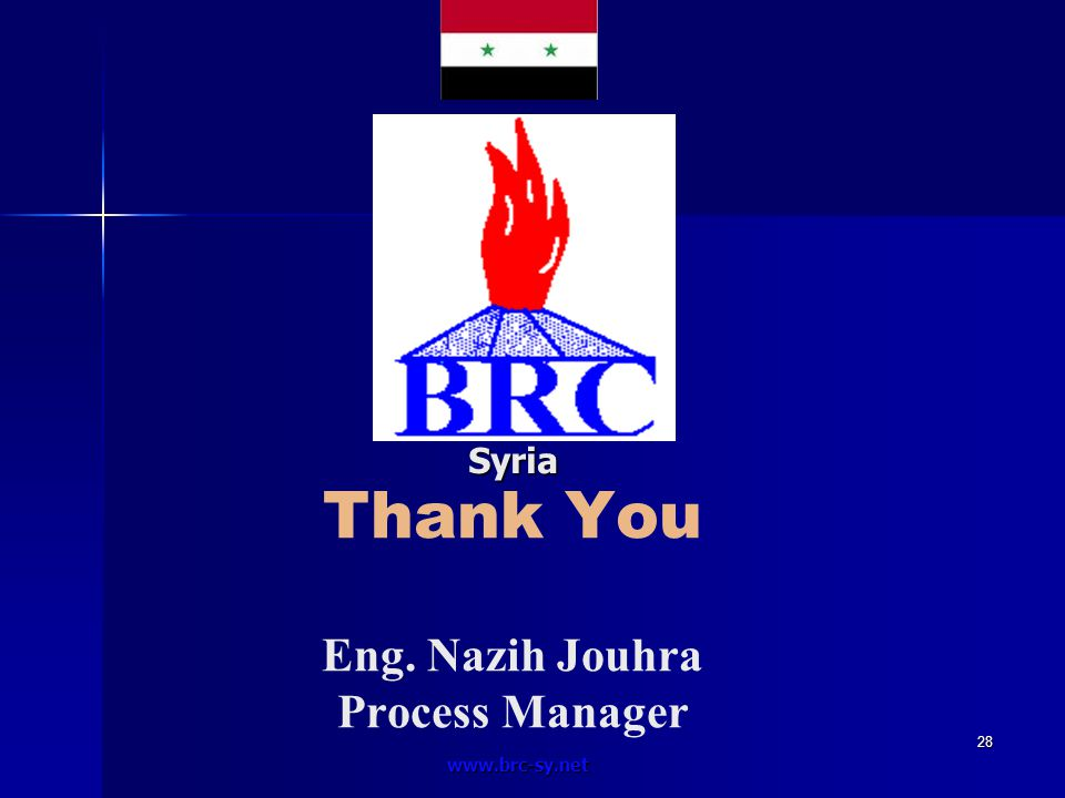 Thank You Eng. Nazih Jouhra Process Manager