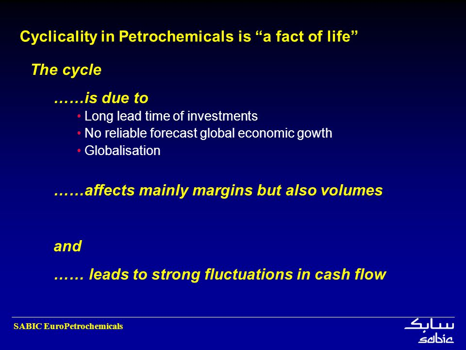 Cyclicality in Petrochemicals is a fact of life