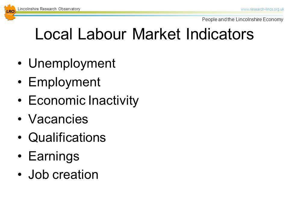 Local Labour Market Indicators