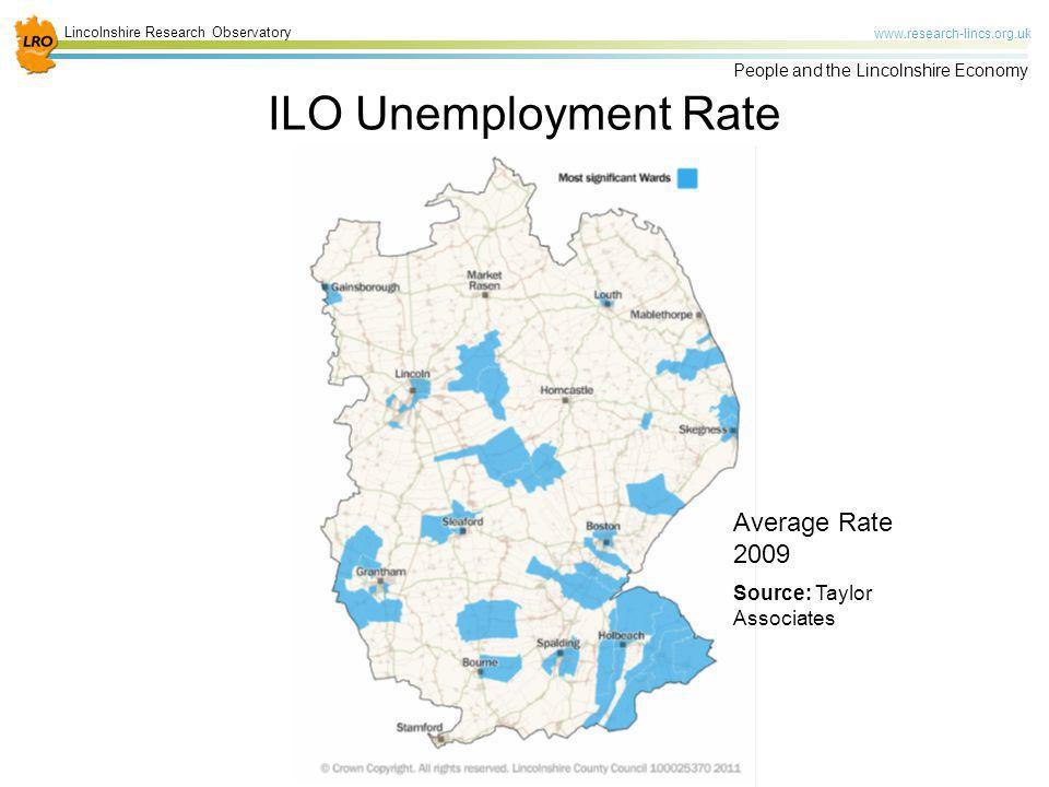 ILO Unemployment Rate Average Rate 2009 Source: Taylor Associates