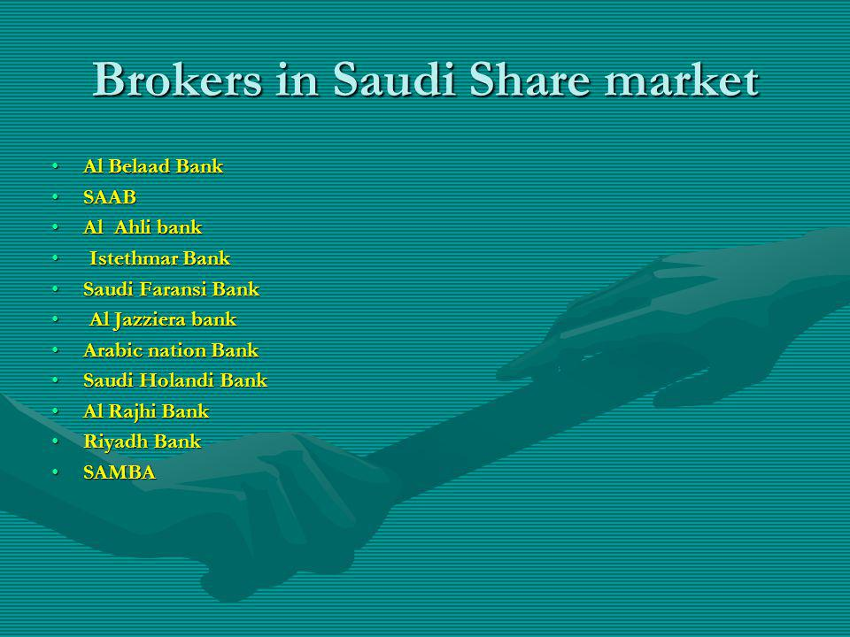 Brokers in Saudi Share market