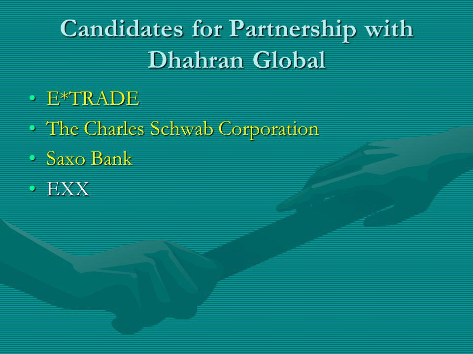 Candidates for Partnership with Dhahran Global