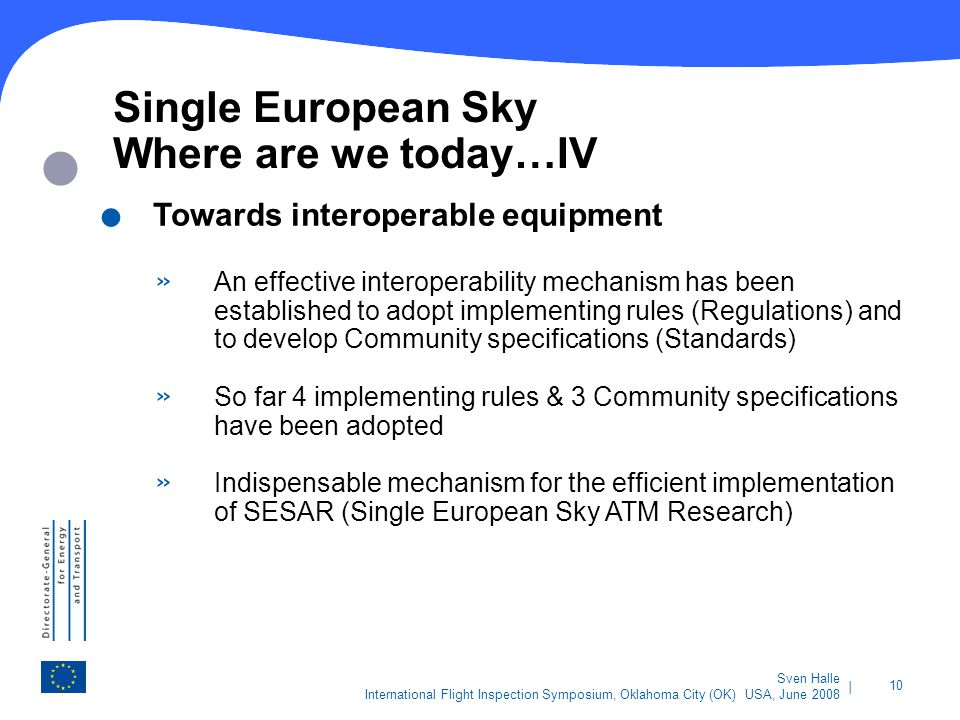 Single European Sky Where are we today…IV