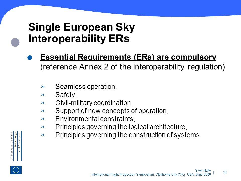 Single European Sky Interoperability ERs