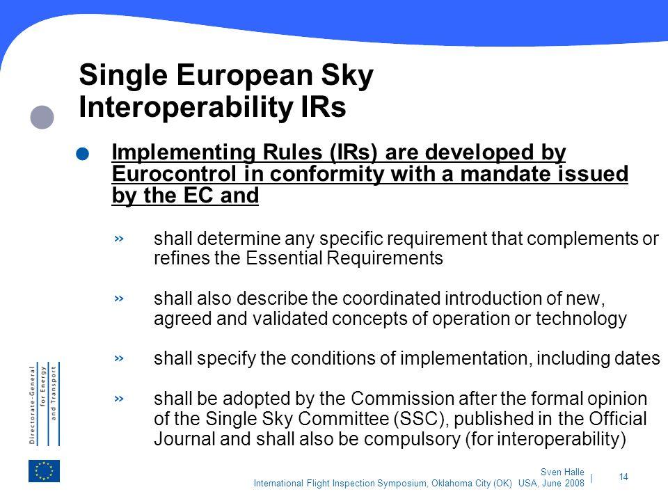 Single European Sky Interoperability IRs