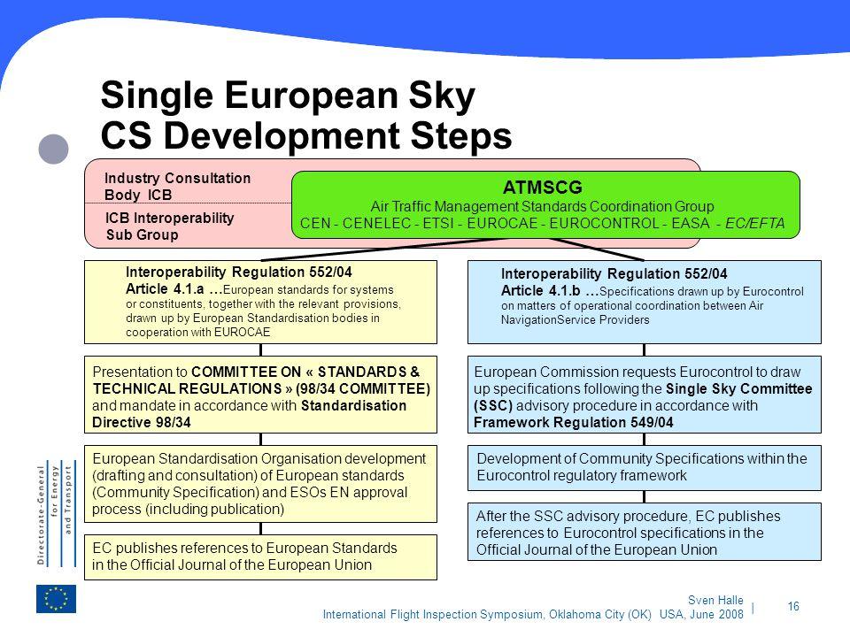 Single European Sky CS Development Steps