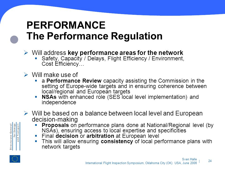 PERFORMANCE The Performance Regulation