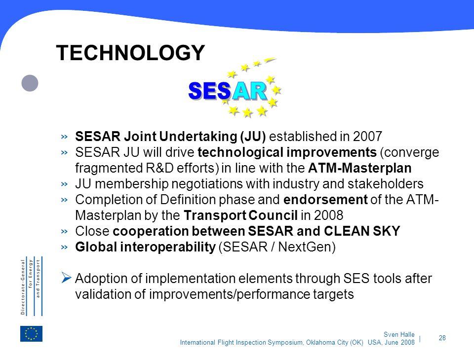 SES AR TECHNOLOGY SESAR Joint Undertaking (JU) established in 2007