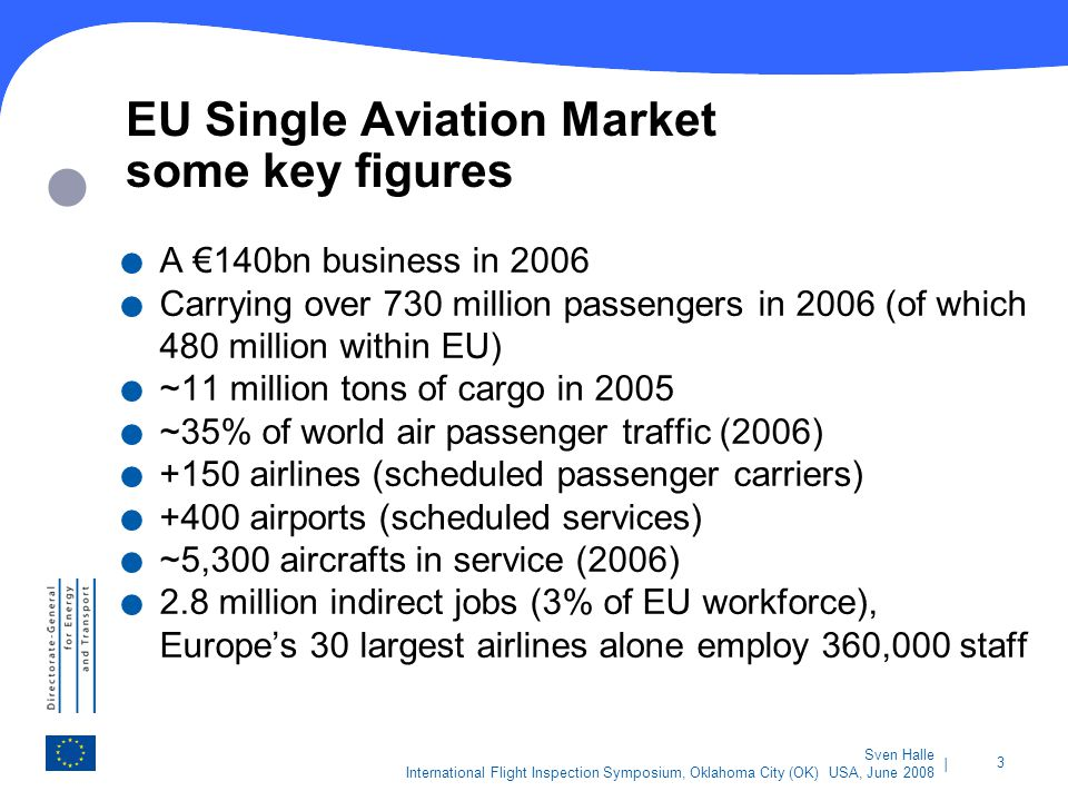 EU Single Aviation Market some key figures