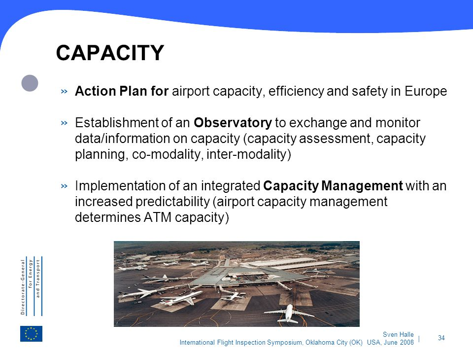 CAPACITY Action Plan for airport capacity, efficiency and safety in Europe.