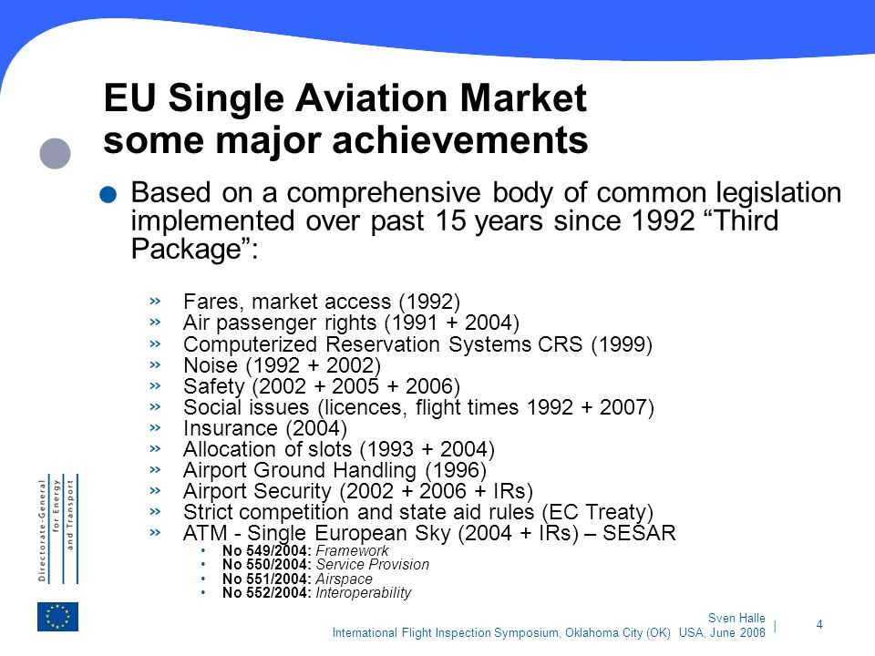 EU Single Aviation Market some major achievements