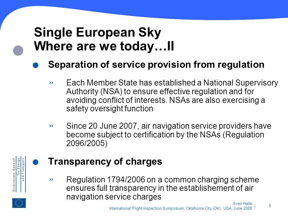 Single European Sky Where are we today…II